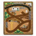 Alt Thumbnail #1 of Round the Construction Site Rug & Wooden Vehicle Set