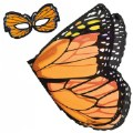 Main Image of Monarch Butterfly Wings and Mask Set - Orange