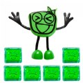 Glo Pals Character Pippa & 6 Green Light Up Water Cubes