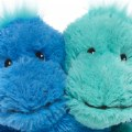 "Alternate Thumbnail Image #1 of Warmies® Microwavable Plush - Hugs 8.5"" Blue and Teal Dinosaurs"