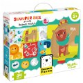 Alternate Thumbnail Image #1 of Suuuper Size Puzzle Animal Match - Large Jigsaw Floor Puzzle for Kids