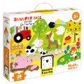 Alternate Thumbnail Image #1 of Suuuper Size Puzzle On the Farm - Large Jigsaw Floor Puzzle for Kids Ages 2+ - 35 Pieces