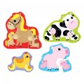 Thumbnail of Hands at Play Farm Animals - 4 Large Uniquely Shaped Animal Puzzles