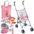 "Umbrella Doll Stroller & Large Accessories 12"" Baby Doll Set - 11 Accessories"
