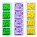 Glo Pals Light Up Water Cubes - 12 Cubes in Green, Purple & Yellow