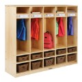 Alt Thumbnail #2 of Premium Solid Maple 5-Section Coat Locker