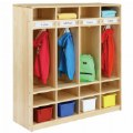 Thumbnail of Premium Solid Maple 4-Section Coat Locker