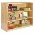 Alternate Thumbnail Image #3 of Premium Solid Maple 3-Shelf Storage