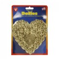 "Alternate Image #1 of 100 Heart Doilies 4"" - 18 Gold & Silver, 32 Red & White"