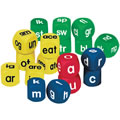 "Grades K & up. Set includes 6 Lowercase Alphabet Cubes, 6 Blend Cubes and 6 Word Family Cubes. Soft foam color-coded cubes measure 1 5/8""."