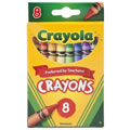 Crayola® 8-Count Crayons - Standard (Single Box)