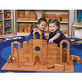 These hand carved wooden bricks help children create realistic buildings from their communities. They help children develop cooperation, patterning and fine motor skills and lay the foundation for early mathematical skills. Includes half units, units, half pillars, pillars, half columns, columns, gothic arches, buttresses, corners, roman arches, half circles, quarter circles, triangles, large triangles, triangle roofs, circle curves, thin quarter units, thin half units, and thin units.