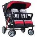 Alt Thumbnail #1 of Quad Sport™ 4-Passenger Stoller - Red