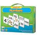3 years & up. Your child will learn to recognize numbers and spelling of the number with this fun, self-correcting Match-It puzzle. Three pieces fit together : the number, the same number of objects to count and the spelling of the number. 20 puzzle sets included in the box.