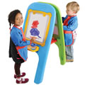 Alternate Image #1 of Indoor/Outdoor Plastic Easel
