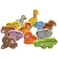 Jungle Parade Wooden Animals (Set of 12)