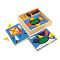 Alternate Thumbnail Image #1 of Beginner Colorful Pattern Blocks With Recessed Design Templates