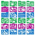 Alternate Thumbnail Image #1 of Stencil Mill Collection of Alphabets, Numbers, Animals, People, Transportation and more