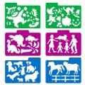 Alternate Thumbnail Image #3 of Stencil Mill Collection of Alphabets, Numbers, Animals, People, Transportation and more