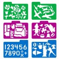 Alternate Thumbnail Image #4 of Stencil Mill Collection of Alphabets, Numbers, Animals, People, Transportation and more