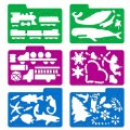 Alternate Thumbnail Image #5 of Stencil Mill Collection of Alphabets, Numbers, Animals, People, Transportation and more