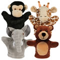 Main Image of Tiny Friends Zoo Puppets - Set of 4