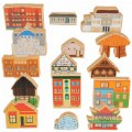 Main Image of Homes Around the World Wooden Blocks - Set of 15