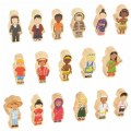 Main Image of Children Around the World Wooden Figures - Set of 17