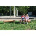 Alternate Thumbnail Image #3 of Outdoor Wooden Stacking Benches - Set of 2