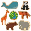 Main Image of Large Wooden Play Animals - Set of 7