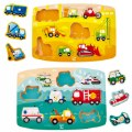 Main Image of Vehicle Themed Peg Puzzle - Set of 2