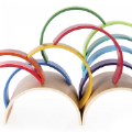 Alternate Thumbnail Image #1 of Colorful Wooden Rainbow Arches and Tunnels - Set of 12