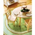 Alternate Thumbnail Image #1 of Sense of Place Lowland Stripe Green Oval Carpet - 6' X 9'