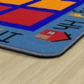 "Alternate Thumbnail Image #2 of ABC Primary Phonics Seating Carpet - 8'4"" x 12' Rectangle - Seats 35"