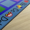 "Alternate Thumbnail Image #4 of ABC Primary Phonics Seating Carpet - 8'4"" x 12' Rectangle - Seats 35"