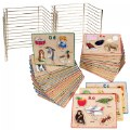 ABC Puzzle Set with Wire Rack - 26 Total Puzzles