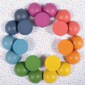 Alternate Thumbnail Image #10 of Rainbow Wood Loose Semispheres - 21 Pieces