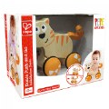 Alternate Thumbnail Image #2 of Wooden Toddler Wobble Kitten Push & Go