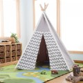Alternate Thumbnail Image #5 of Easy View Foldable Gray and White Canvas Tent