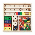 Kids can create hundreds of different wooden models. Comes with creative idea guide and 50+ smooth-sanded wooden pieces.