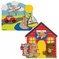Main Image of Jumbo Knob Puzzles - Set of 2