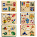 Main Image of Self Correcting Colorful Shape Puzzles - Set of 6