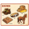 Alternate Thumbnail Image #6 of Basic Color and Word Wooden Puzzles - Set of 8