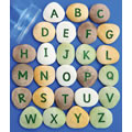 "PreK & Up. These clever pebbles are an ideal tool for building interest in letters and sounds in a wide variety of contexts, including sand, water, and discovery play. Each set includes a storage container and teacher's guide. Set of 26 pebbles. Pebbles are approximately 1 1/2"" in size."