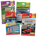 Grades 2 - 3. Each game reinforces different key skills to promte reading comprehension. These interactive games can be played on any interactive whiteboard or computer. Set of 4 games includes: Space Voyage, Super Speedway, Robot Roundup, and Jungle Journey.
