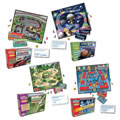 Grades 2 - 3. These traditional board games reinforce different key skills to promte reading comprehension. Set of 4 games includes: Space Voyage, Super Speedway, Robot Roundup, and Jungle Journey.