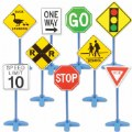 On the Go Traffic Signs - Set of 9