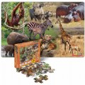 Alternate Image #1 of Wild and North American Animals Floor Puzzles - Set of 2