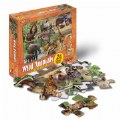 Alternate Image #1 of Wild Animals Floor Puzzle - 24 Pieces