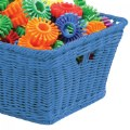 Alt Thumbnail #1 of Small Plastic Wicker Basket - Blue - Each